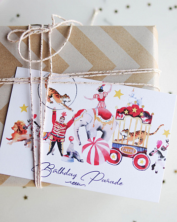 "Открытка Paperie ""Birthday Parade"""